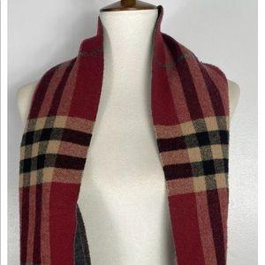 BURBERRY London Wool Cashmere Nova check scarf